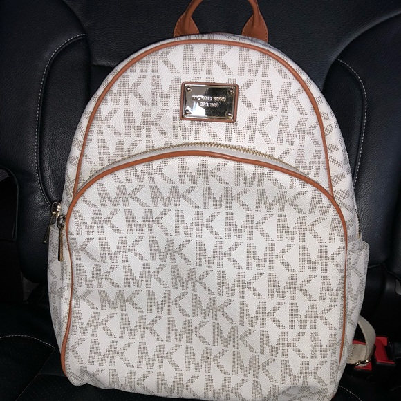 michael michael kors bags michael kors large backpack vanilla mk rh poshmark com